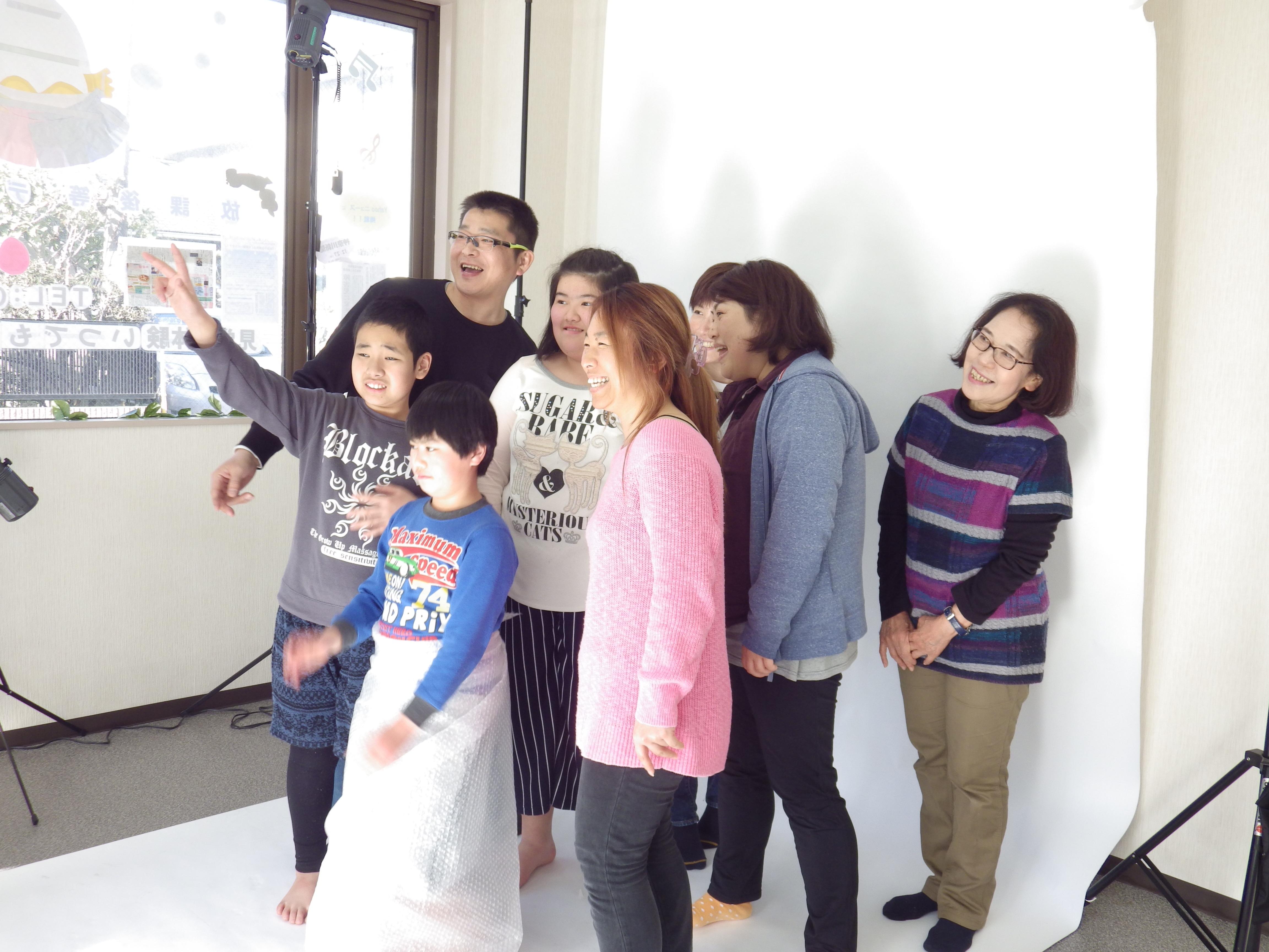 障がいのお子さんを持つ家族の夢「家族写真撮影会」第1回目無事に終わりました!次回は3月10日決定。